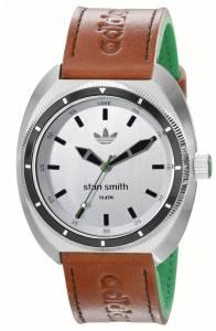 [アディダス]adidas Stan Smith Stainless Steel Watch with Brown and Green Leather Band ADH3005