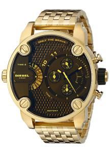 [ディーゼル]Diesel  Little Daddy Analog Display Analog Quartz Gold Watch DZ7347 メンズ