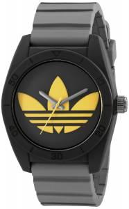 [アディダス]adidas 腕時計 Santiago Black Stainless Steel Watch with Textured Band ADH3030