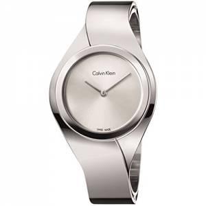 [カルバン クライン]Calvin Klein Swiss Senses Stainless Steel Bangle Bracelet Watch K5N2M126