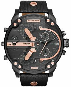 [ディーゼル]Diesel  Mr Daddy 2.0 Analog Display Analog Quartz Black Watch DZ7350 メンズ