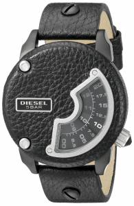 [ディーゼル]Diesel  Mini Daddy Biker Stainless Steel Watch With Black Leather Band DZ7353
