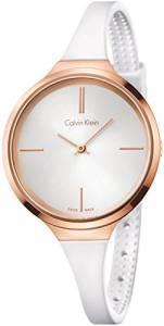 [カルバン クライン]Calvin Klein 腕時計 Lively White Silicone Strap Watch K4U236K6