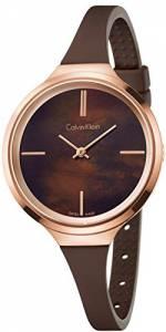 [カルバン クライン]Calvin Klein 腕時計 Lively Brown Silicone Strap Watch K4U236FK