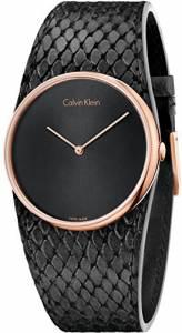 [カルバン クライン]Calvin Klein 腕時計 Spellbound Black Leather Strap Watch K5V236C1