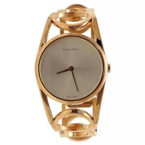 [カルバン クライン]Calvin Klein ??Calvin Klein Round Silver / Rose Gold K5U2M646