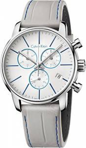 [カルバン クライン]Calvin Klein 腕時計 White Dial Grey Leather Watch K2G271Q4 メンズ