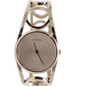[カルバン クライン]Calvin Klein  WHITE LABEL ROUND SILVER DIAL WATCH K5U2M146