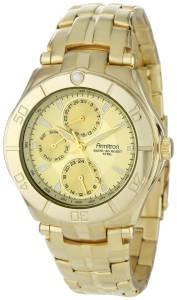 [アーミトロン]Armitron  GoldTone Stainless Steel MultiFunction Dress Watch 204224CHGP