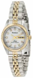 [アーミトロン]Armitron 75/2475MOP Swarovski Crystal Accented TwoTone Bracelet Watch 75-2475MOP