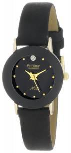 [アーミトロン]Armitron  75/2447BLK DiamondAccented Watch with Black Leather Band 75-2447BLK