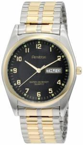 [アーミトロン]Armitron  Round Easy to Read Black Dial TwoTone Expansion Band Watch 201143