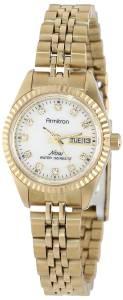 [アーミトロン]Armitron 75/2474MOP Swarovski Crystal Accented GoldTone Bracelet 75-2474MOP