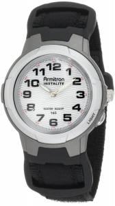 [アーミトロン]Armitron  204014BLK Black Easy to Read Round Dial Sport Watch 20-4014BLK