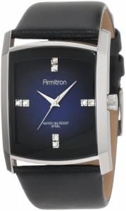 [アーミトロン]Armitron Dress Swarovski Crystal Accented SilverTone Black Leather 204604DBSVBK