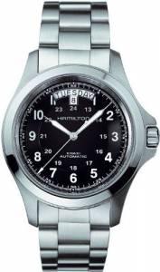 [ハミルトン]Hamilton  Khaki King II Automatic Black Dial Watch H64455133 758501625849