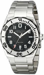 [ハミルトン]Hamilton Khaki Navy Sub Analog Display Automatic Self Wind Silver Watch H78615135
