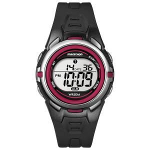 [タイメックス]Timex  Sport Marathon Chronograph Black/Red Watch T 5K363 4E with Stop Watch