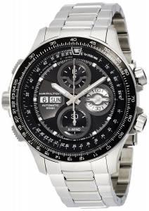 [ハミルトン]Hamilton  Aviation Khaki XWind Black Dial Stainless Steel Watch H77766131