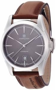 [ハミルトン]Hamilton  Spirit of Liberty Automatic Grey Dial Brown Leather Watch H42415591