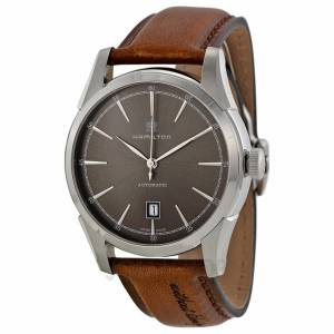 [ハミルトン]Hamilton  Spirit of Liberty Automatic Grey Dial Leather Watch H42415591 メンズ