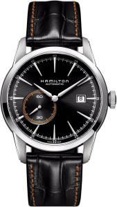[ハミルトン]Hamilton  Classic Railroad Automatic Black Dial Black Leather Watch H40515731