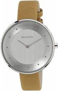 [スカーゲン]Skagen 腕時計 Stainless Steel Watch with Leather Band SKW2326 レディース