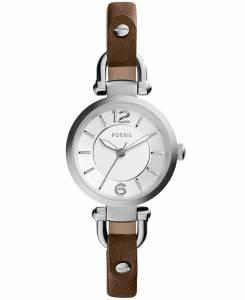 [フォッシル]Fossil 腕時計 Georgia ThreeHand Leather Watch Dark Brown ES3861 レディース
