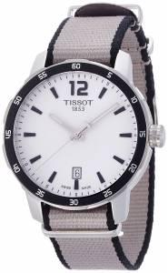 [ティソ]Tissot  Quickster Silver Dial Stainless Steel Case Nylon Strap Watch T0954101703700