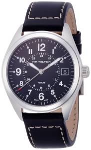 [ハミルトン]Hamilton 腕時計 Khaki Field Black Dial Black Leather Watch H68551733