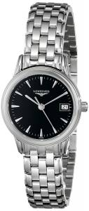 [ロンジン]Longines  Flagship Black Dial Stainless Steel Watch L47164526 LNG47164526 メンズ