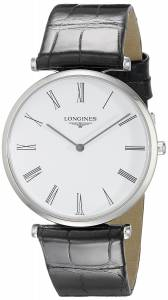 [ロンジン]Longines 腕時計 La Grande Analog Display Quartz Black Watch LNG47094112 メンズ