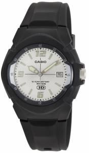 [カシオ]Casio  MW600F7AV Black Resin Quartz Watch with Silver Dial MW-600F-7AVDF (A507)
