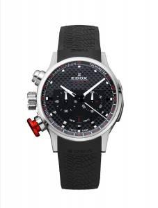 [エドックス]Edox  Chronorally Analog Display Swiss Quartz Black Watch 10302 3 NIN2 メンズ