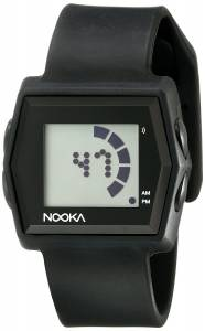 [ヌーカ]NOOKA 腕時計 Digital Display Quartz Black Watch ZUBZIBIZIRCBK ユニセックス