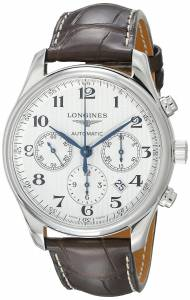 [ロンジン]Longines 腕時計 Master Chronograph Automatic Silver Dial Watch L27594783 メンズ