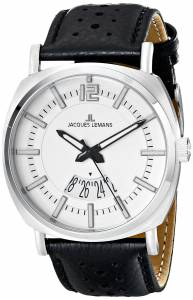 [ジャックルマン]Jacques Lemans  Lugano Analog Display Quartz Black Watch 1-1740B メンズ