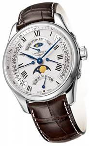 [ロンジン]Longines Master Collection Automatic MultiFunction Silver Dial Brown Leather L27394713