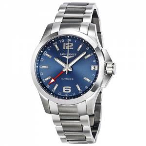 [ロンジン]Longines  Conquest GMT Automatic Blue Dial Watch L3.687.4.99.6 L36874996 メンズ