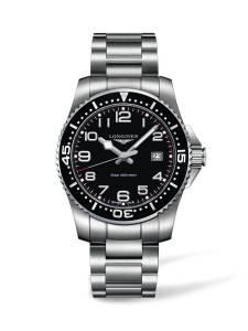 [ロンジン]Longines 腕時計 HydroConquest Black Dial Stainless Steel Watch L36894536 メンズ