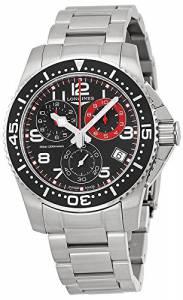 [ロンジン]Longines  HydroConquest Chronograph Black Dial Stainless Steel Watch L36904536