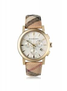 [バーバリー]BURBERRY The City Chronograph White Dial Haymarket Check Watch BU9752 BU9752