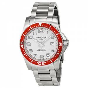 [ロンジン]Longines Hydro Conquest White Dial Red Bezel Stainless Steel Watch L3.695.4.19.6