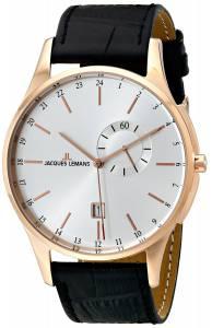 [ジャックルマン]Jacques Lemans  London Analog Display Quartz Black Watch 1-1744D メンズ