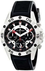 [ジャックルマン]Jacques Lemans  Liverpool Analog Display Quartz Black Watch 1-1773A