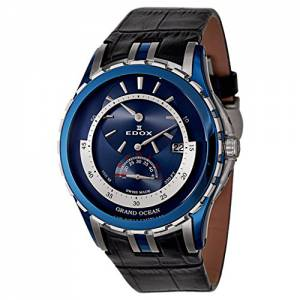 [エドックス]Edox Grand Ocean Regulator Automatic Automatic Watch 77002357BBUIN 77002-357B-BUIN