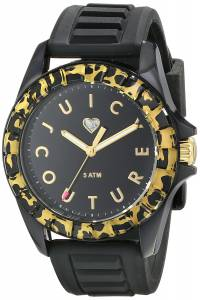 [ジューシークチュール]Juicy Couture Juicy Sport Analog Display Quartz Black Watch 1901161