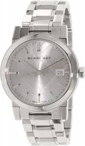[バーバリー]BURBERRY 腕時計 The City Grey Dial Stainless Steel Watch BU9143