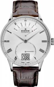 [エドックス]Edox  Les Vauberts Silver Dial Brown Leather Watch 340053AAR 34005 3A AR メンズ