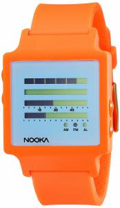 [ヌーカ]NOOKA 腕時計 Digital Display Quartz Orange Watch ZENHKOP ユニセックス